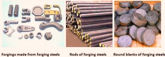 Application of forging quality steels