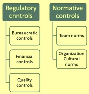 categories of management control