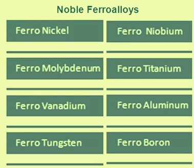 Noble ferroalloys
