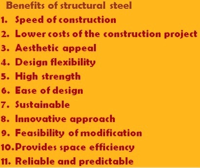 Benefits of structural steels