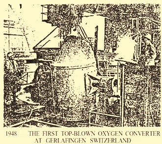 Photograph of first top blown converter