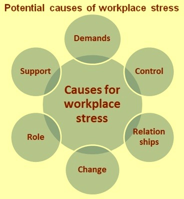 Potential causes of workplace stress